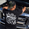 Whistle While You Work Hammer Lane T-Shirt On Model 3