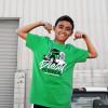 Diesel Powered Hammer Lane Kids T-Shirt On Model