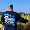 Old School Hammer Lane Long Sleeve T-Shirt On Model Angle 1