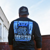 Ride Into The Night Hammer Lane Long Sleeve T-Shirt On Model Back