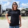Chrome To The Bone Hammer Lane T-Shirt On Female Model Front