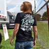 Chrome To The Bone Hammer Lane T-Shirt On Female Model Back