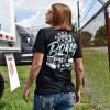 Chrome To The Bone Hammer Lane T-Shirt On Female Model Back