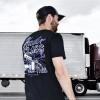 Haulin' Class Hammer Lane T-Shirt On Model Back Side Angle