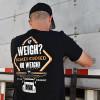 No Weigh 2.0 AK Series Hammer Lane Trucker T-Shirt On Model Back