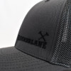 Charcoal Hammerlane Cross Hammers Fitted Mesh Hat Close Up