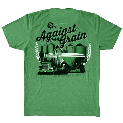 Against The Grain Hammer Lane Trucker T-Shirt Back