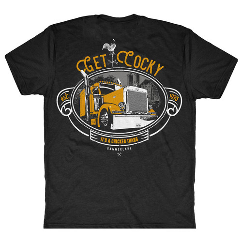 Chicken Thang Hammer Lane Trucker T-Shirt Back