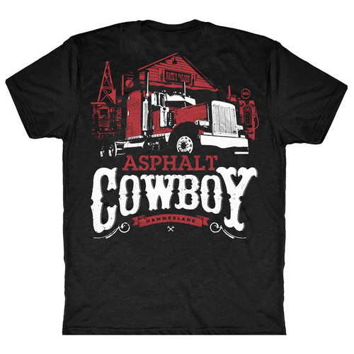 Asphalt Cowboy Hammer Lane Trucker T-Shirt Back