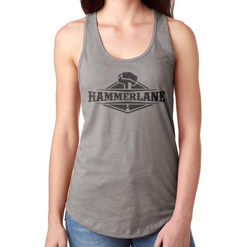 Ladies Hammer Lane Logo Tank Top Heather Grey