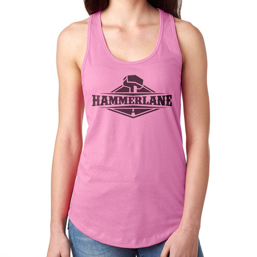 Ladies Hammer Lane Logo Tank Top Pink