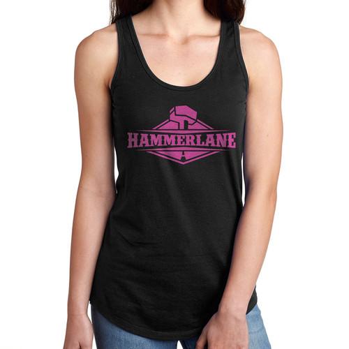 Ladies Hammer Lane Logo Tank Top Black