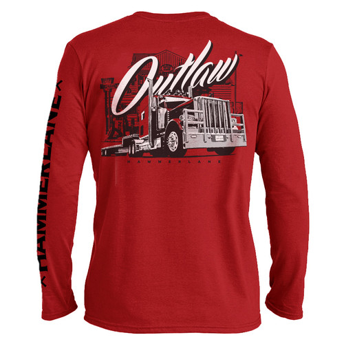 Outlaw Hammer Lane Long Sleeve Trucker T-Shirt