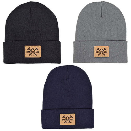 Hammer Lane Logo Patch Beanie