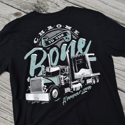 Chrome To The Bone Hammer Lane T-Shirt Back