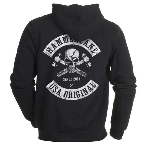 Skull Hammer Lane Trucker Hoodie Sweatshirt Back