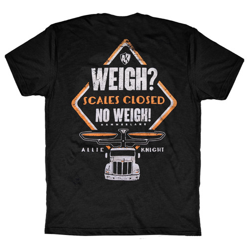 No Weigh 2.0 AK Series Hammer Lane Trucker T-Shirt Back
