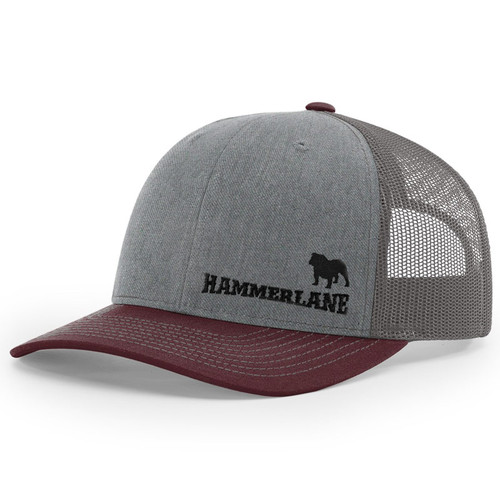 Snapback Maroon & Heather Grey Diesel Dog Hammerlane Trucker Hat