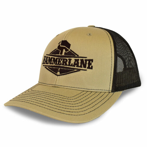 Snapback Khaki & Coffee Hammerlane Trucker Hat Side Angle