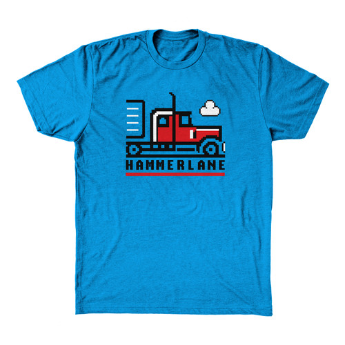 Hammer Lane Pixel Truck Kids T-Shirt - Red Truck