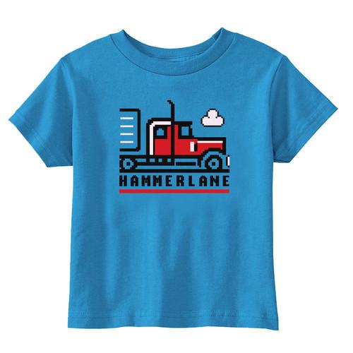 Hammer Lane Pixel Truck Toddler Tee - Red Truck