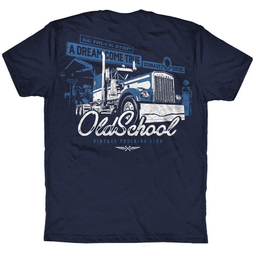 Old School Hammer Lane Trucker T-Shirt Back
