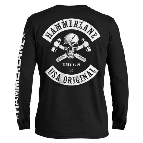 Skull Hammer Lane Long Sleeve T-Shirt Back