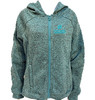 262 Teal/Black Fleece Zip Hoodie