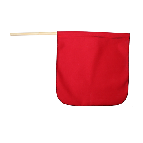 "18"" x 18"" Red Cotton Safety Flag"