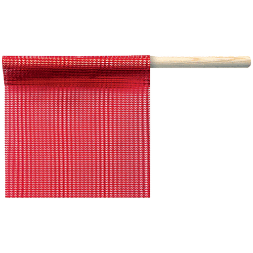 """18"""" x 18"""" Red Mesh Safety Flag"""