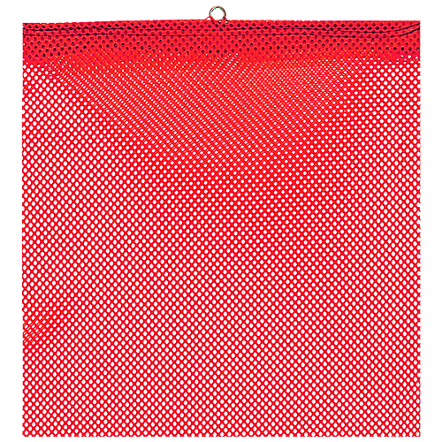 """18"""" x 18"""" Red Jersey Safety Flag with Wire Loop"""