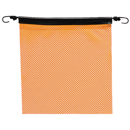 "18"" x 18"" Orange Jersey Safety Flag with Bungee"