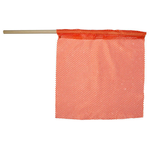 """18"""" x 18"""" Florescent Orange Jersey Safety Flag"""