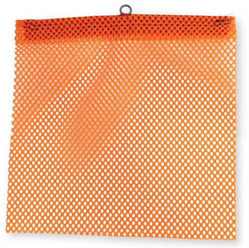 "18"" x 18"" Florescent Orange Jersey Safety Flag with Wire Loop"