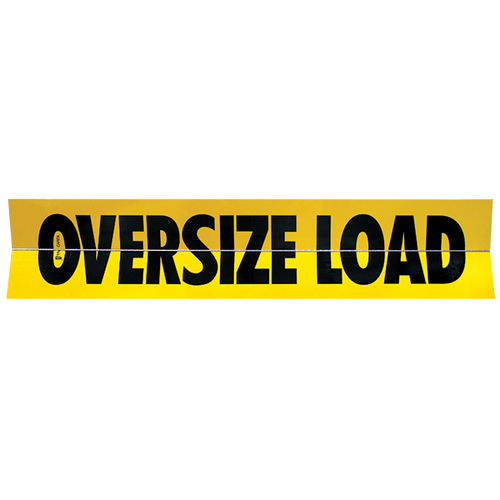 "18"" x 84"" Oversize Load Single Sided Folding Sign (Horizontal Hinge)"