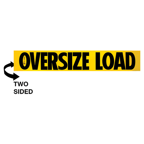 "10"" x 60"" Wooden Oversize Load Sign Double Sided"