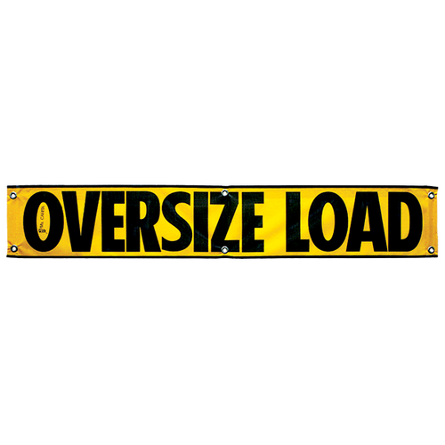"12"" x 72"" Mesh Oversize Load Sign with Grommets"