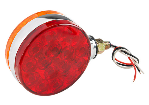 Red and Amber Double Faced Light with 21 LEDs