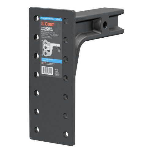 """2-1/2"""" Pintle Mount with 12-1/2"""" Plate, Rated at 20K"""