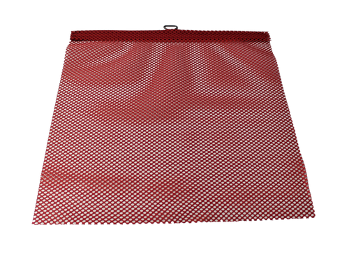 "18"" x 18"" Red Jersey Mesh Flag with Wire Loop"