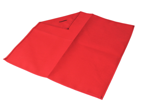 "18"" x 18"" Red Cloth Flag w/Button Hole"