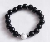 Unisex White Howlite focus bead meditation bracelet