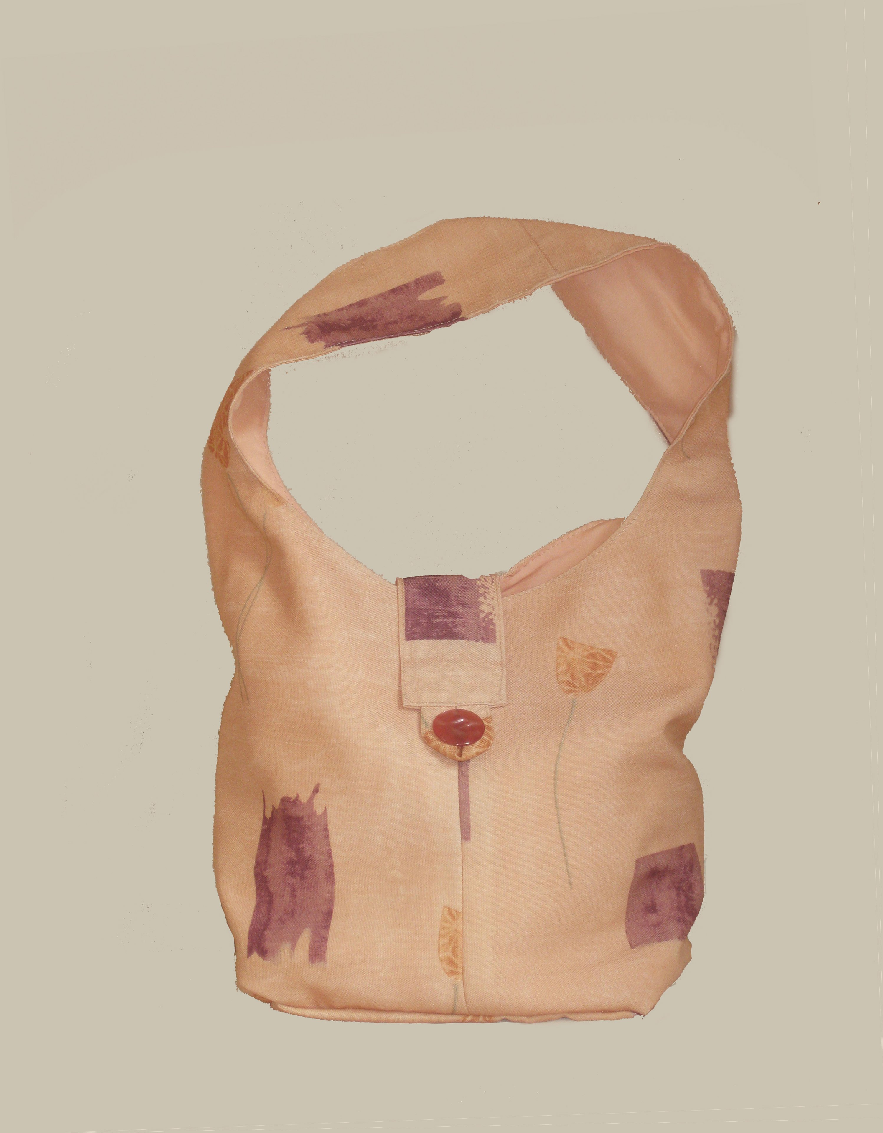 Apricot handmade handbag -one of a kind