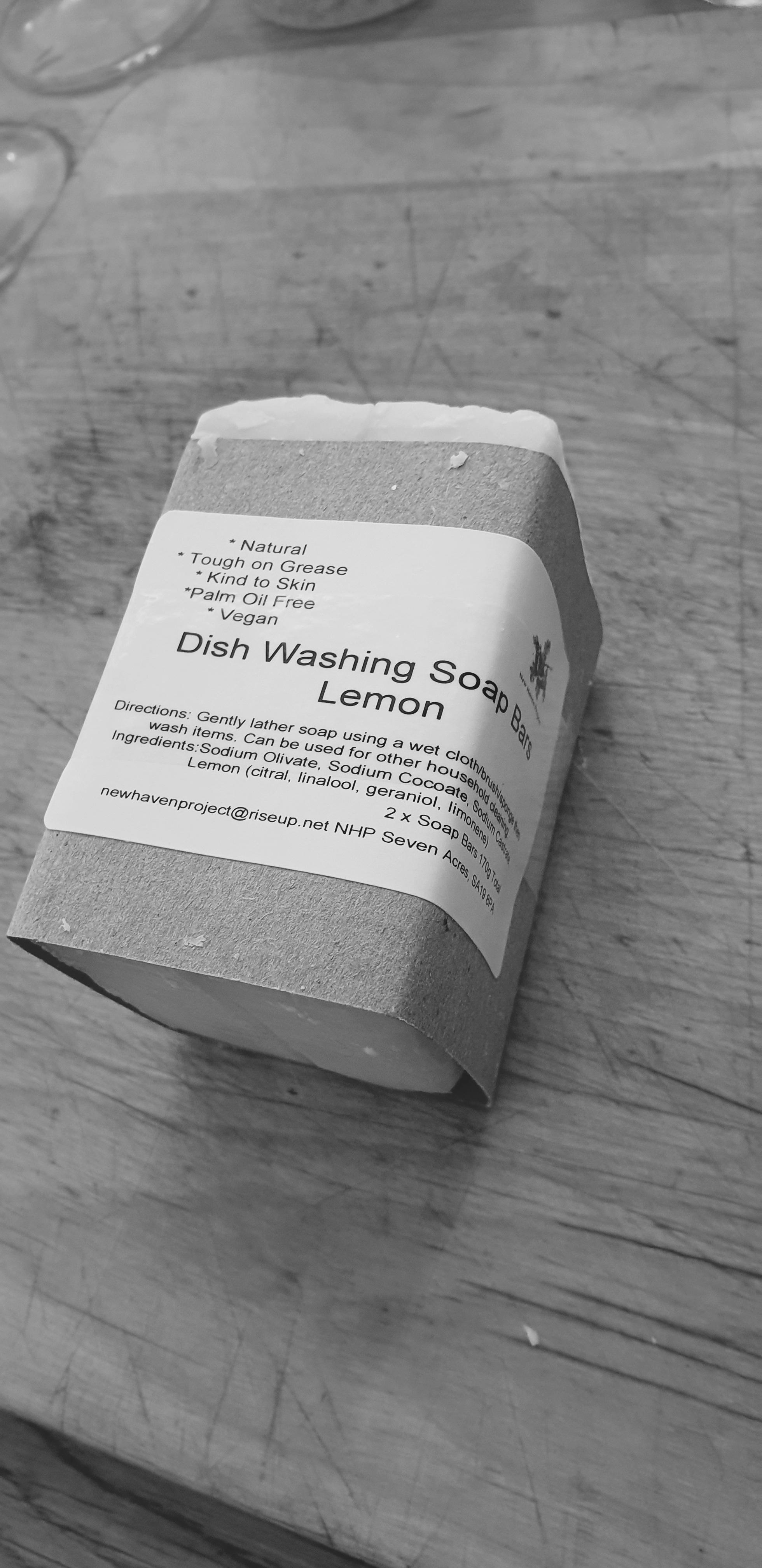 Natural dish washing and laundry soap bars