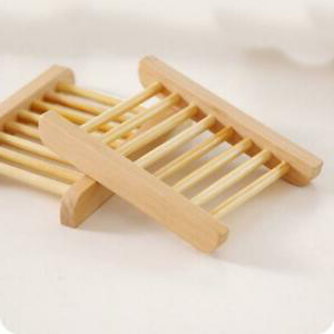 Soap rack in natural bamboo