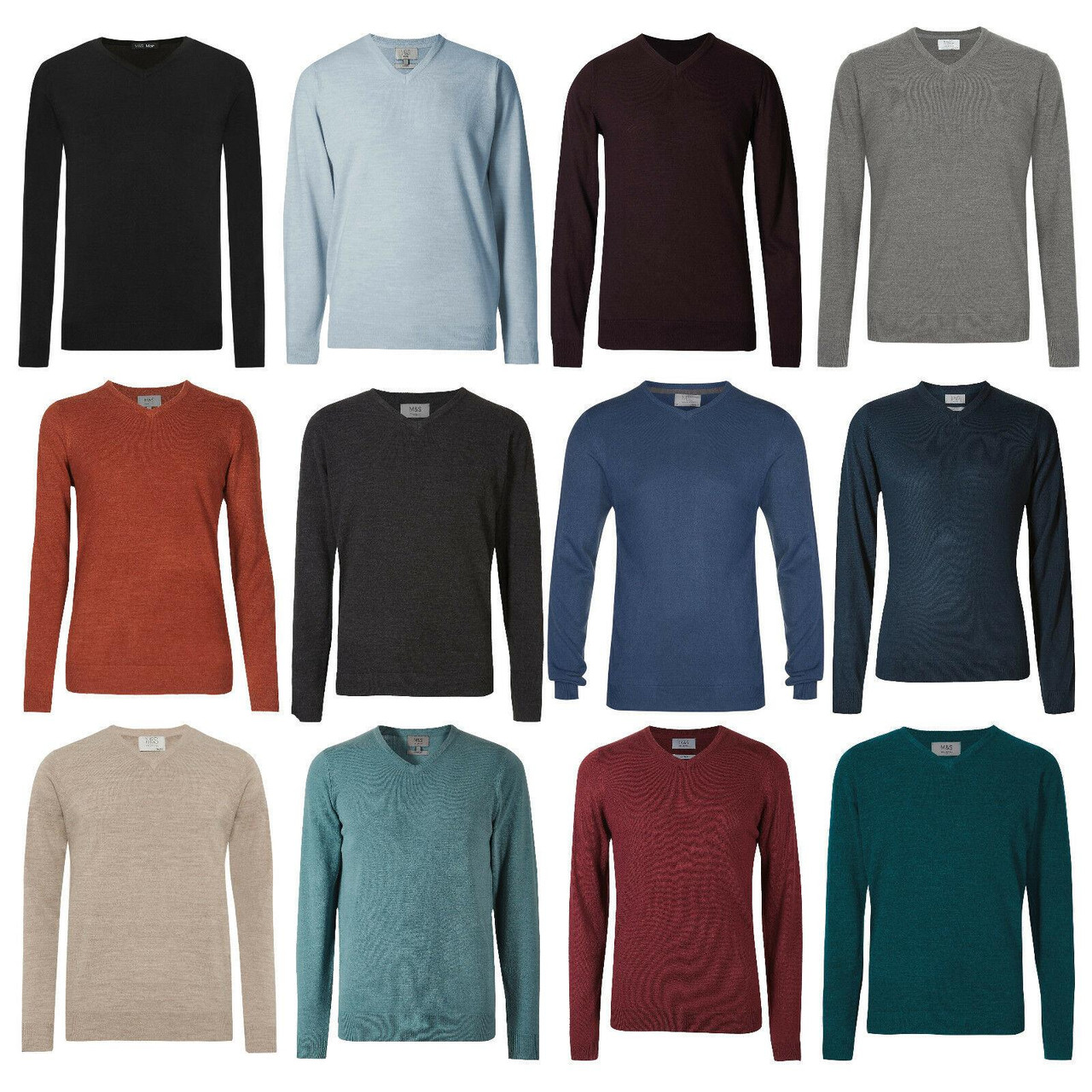 Sweaters Clothing, Shoes & Accessories Mens M&S Jumper V