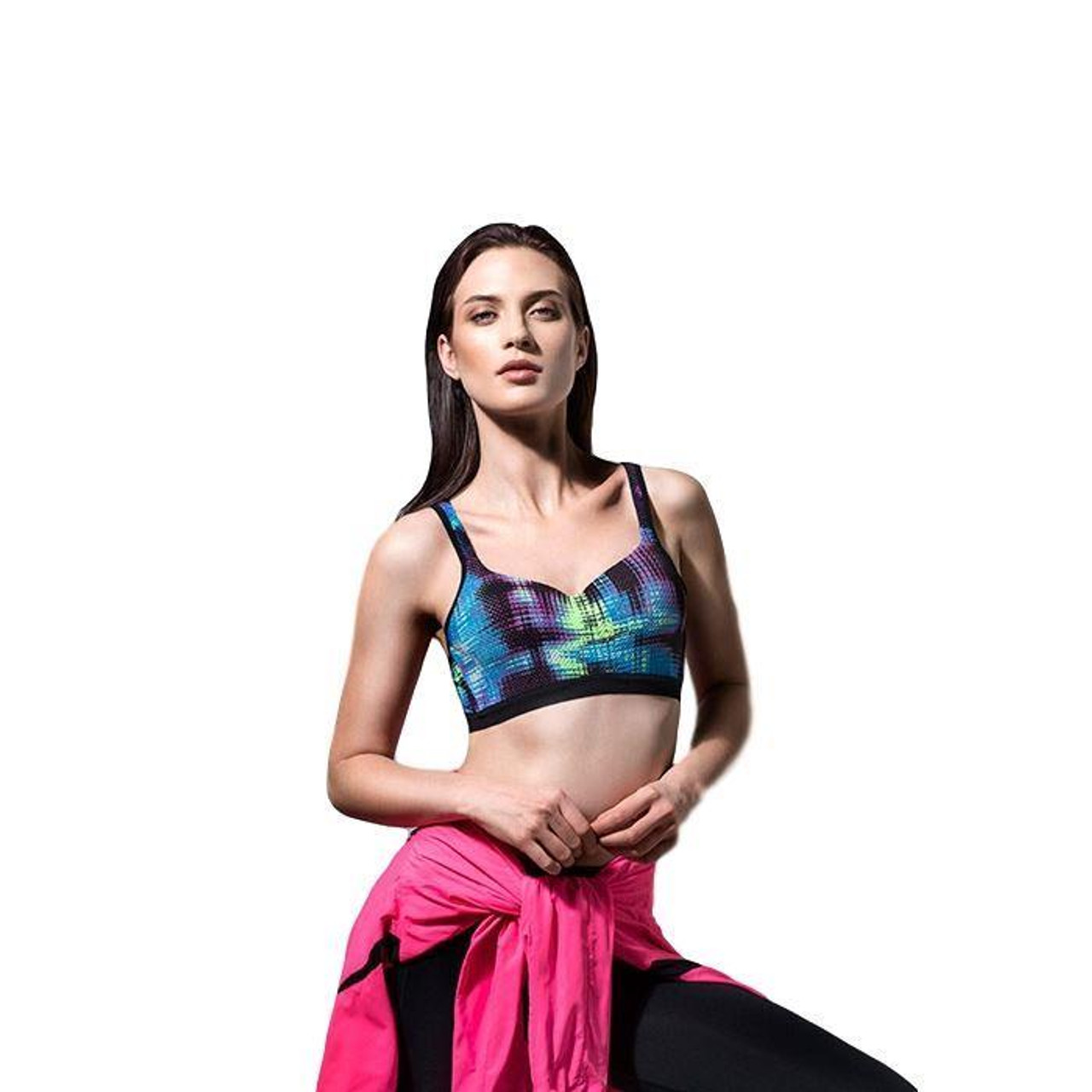 EX M/&S Marks And Spencer Cotton Rich Medium Impact Non-Wired Sports Bra