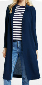 Ladies Marks and Spencer M&S Longline Crepe Duster Coat Jacket 8-22 RRP £55