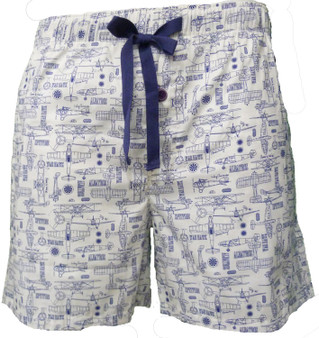 Cyberjammies Men's Ben Woven Pyjama Shorts 6208