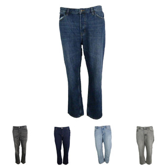 EX M&S Marks And Spencer Mid Rise Cropped Straight Leg Jeans